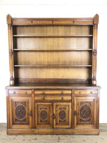 Early 20th Century Antique Oak Dresser (M-1650) (1 of 16)