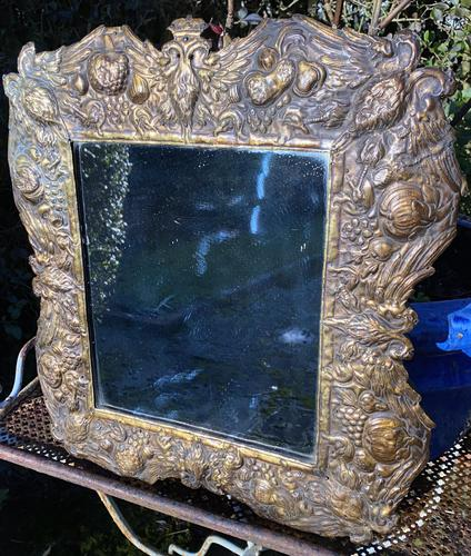 Unusual Repousse Mirror (1 of 5)