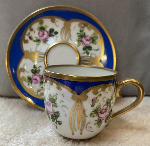 Limoges Sevres Style Cup & Saucer (1 of 3)