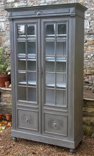 Imposing 19th Century French Glazed & Painted Bookcase Cabinet (1 of 10)