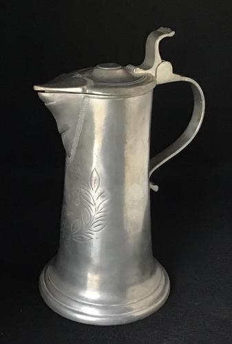 Antique French Pewter Jug c.1740 (1 of 6)