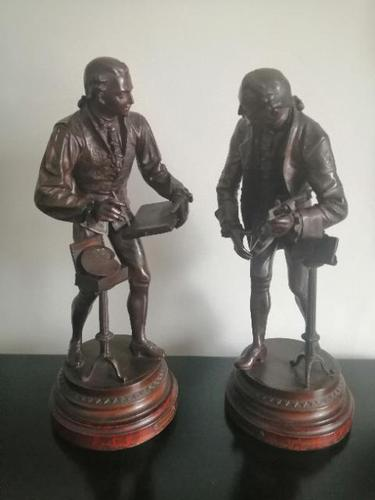 Pair of Bronzed & Patinated Figures after Mathurin Moreau (1 of 21)