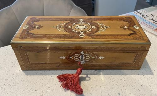 19th Century French Applewood Glove Box (1 of 17)