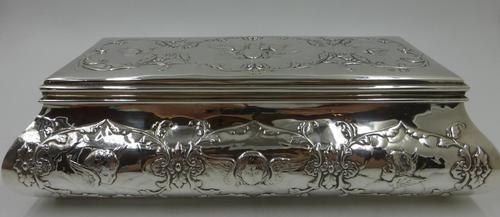 Antique Silver Casket. London 1902 (1 of 9)