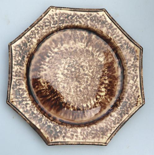 Whieldon - Staffordshire Pottery Tortoiseshell Octagonal Plate c.1765 (1 of 5)