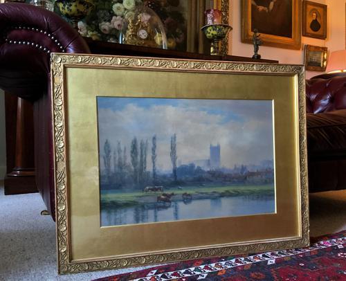 St Johns College, Cambridge 'John Henry Leonard' (1834-1904) Landscape Painting (1 of 12)