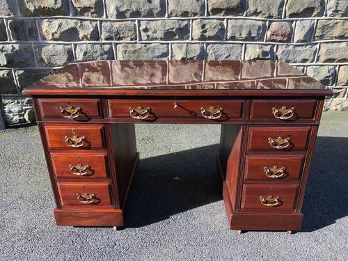 Antique Mahogany Pedestal Desk (1 of 12)