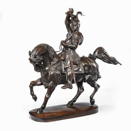 Italian Bronze Equestrian Sculpture of Emanuele Filiberto, Duke of Savoia, by Baron Carlo Marochetti (1 of 17)