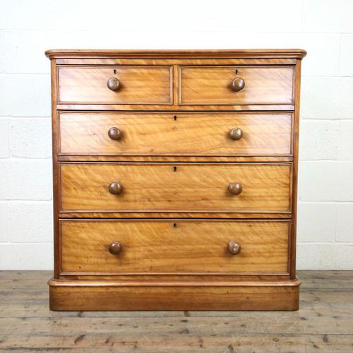 Victorian Satin Birch Chest of Drawers (1 of 9)