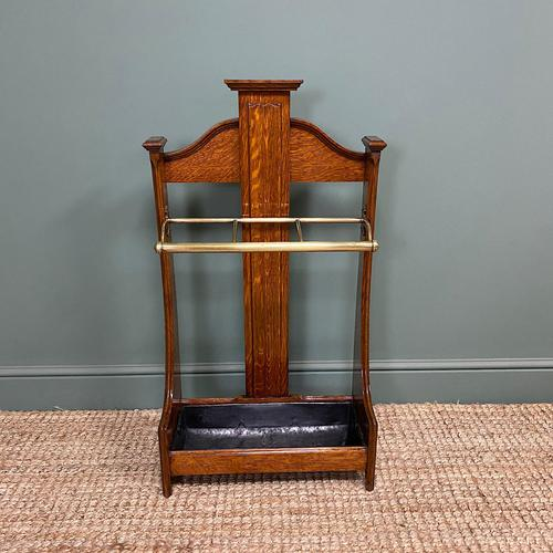 Superb Victorian Oak Antique Stick Stand / Umbrella Stand (1 of 5)