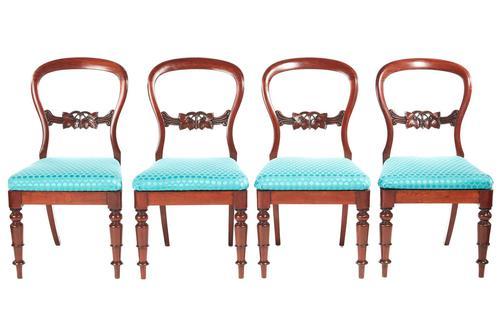 4  Victorian Mahogany Balloon back dining chairs (1 of 6)