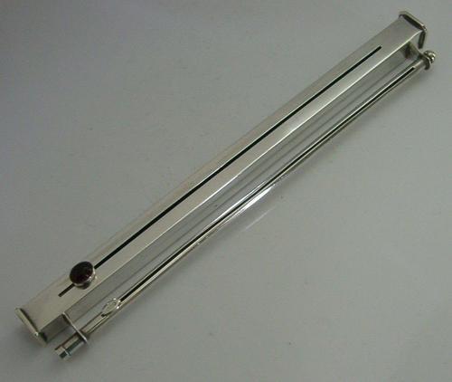 Rare Gem Set Sterling Silver Sealing Wax Wick Holder 1904 Antique Desk Antique (1 of 10)