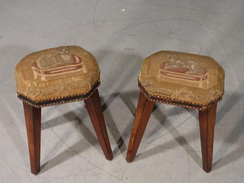 Attractive Pair of George III Period Octagonal Stools (1 of 5)