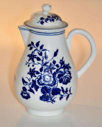 Worcester 'Three Flowers' Pattern, Sparrow-Beak Jug & Cover c.1770 / 1790 (1 of 11)