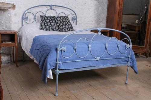 Lovely Rare All Iron Double Bed (1 of 8)