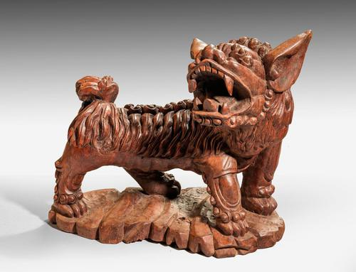 Late 19th Century Carved Wooden Dog (1 of 6)