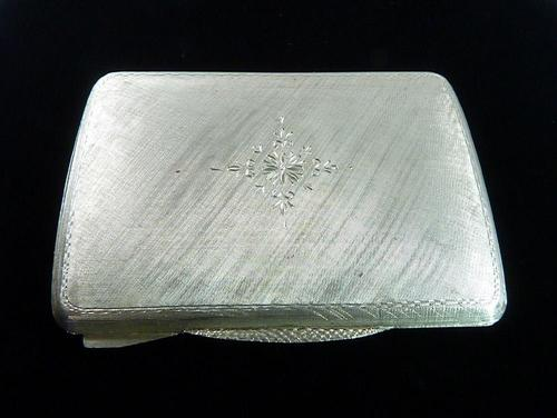 Italian 800 Silver Makeup Compact 1950s (1 of 9)