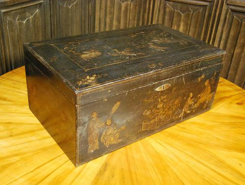 Regency Chinoiserie Japanned Box (1 of 7)