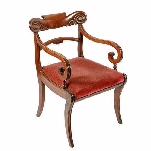 Georgian Mahogany Sabre Leg Chair (1 of 8)