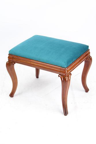 Antique Victorian Mahogany Dressing Table Stool (1 of 13)
