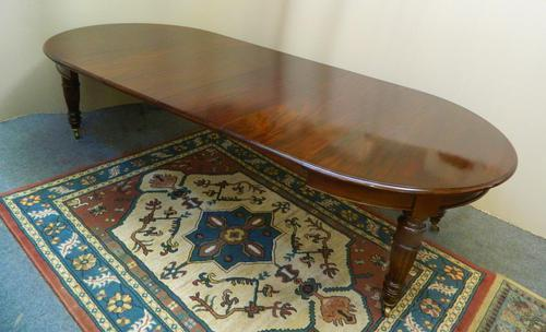 Large Mahogany Dining Table (1 of 7)