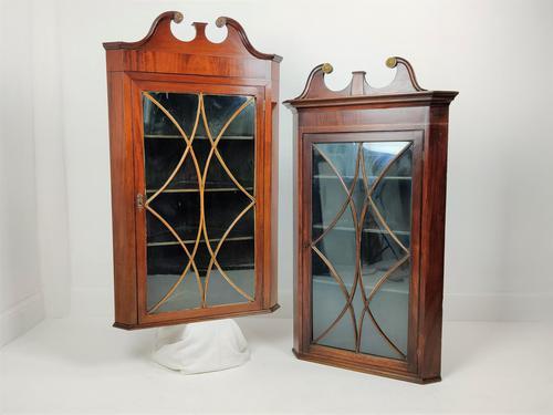 Pair of Glazed Corner Cupboards (1 of 7)