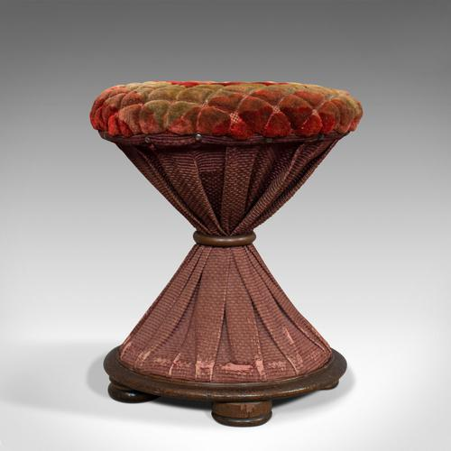 Antique Upholstered Stool, English, Walnut, Footstool, Tabouret, Regency, 1820 (1 of 9)