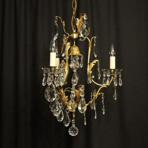 French Gilded Birdcage Antique Chandelier (1 of 7)