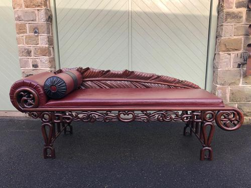 Antique Oriental Chinese Opium Day Bed (1 of 11)