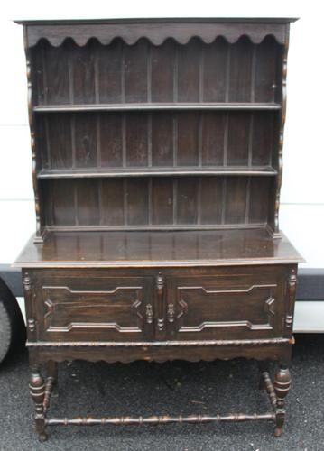 1920's Oak Dresser With Display Rack (1 of 4)