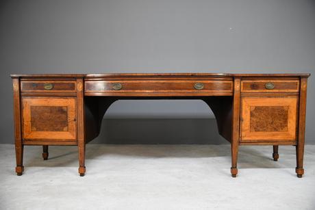 Large Sheraton Style Mahogany Sideboard (1 of 12)