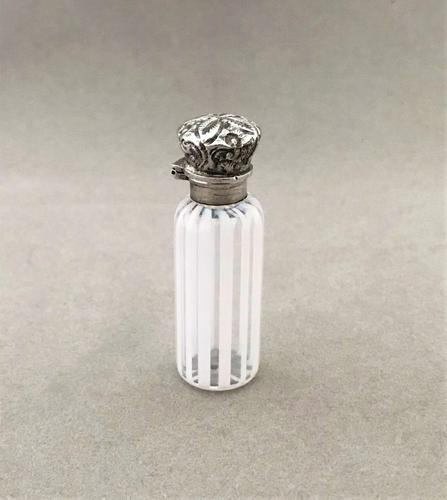 Gorgeous Silver Mounted Candy Stripe Scent Bottle (1 of 5)