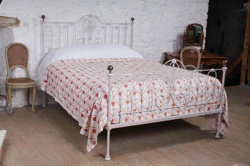 Lovely Early Victorian King Size Iron & Brass Bed (1 of 9)