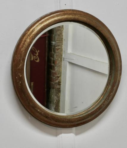19th Century Round French Wall Mirror (1 of 7)