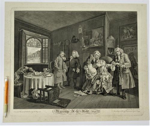 William Hogarth, Marriage-A-La-Mode, Plate 6, Engraved 1745, Original print (1 of 6)