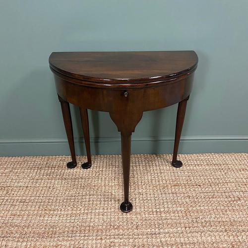 Edwardian Walnut Antique Tea Table (1 of 6)