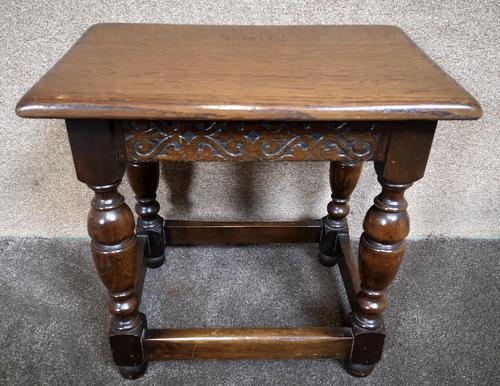 Solid Oak Stool / Occasional Table (1 of 9)