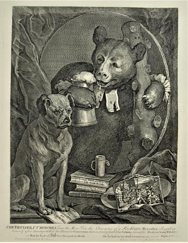 William Hogath original print, The Bruiser, engraved 1763, early 19th century impression (1 of 8)