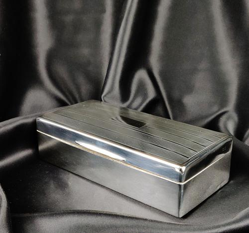 Late 1920's Silver Cigar Case (1 of 6)