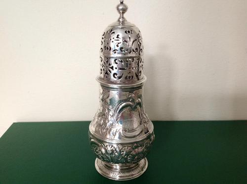 Antique George 1 Britannia Silver Caster - 1715 (1 of 6)