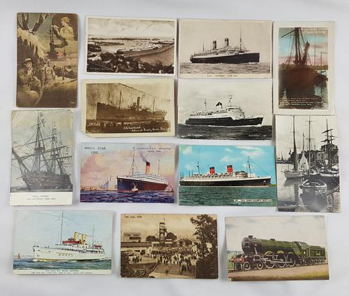 20th Century Postcards of Ships etc 13 (1 of 2)