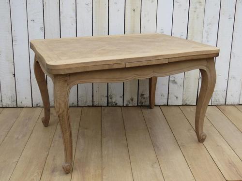 Bleached Oak Extending Draw Leaf Dining Table Desk (1 of 10)