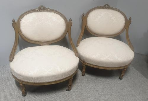 Superb Pair of French Painted Chairs (1 of 14)