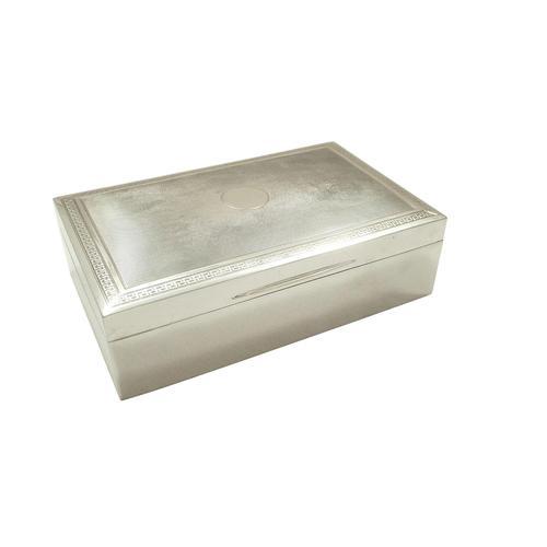 Heavy Antique Sterling Silver Cigarette Box 1918 (1 of 10)
