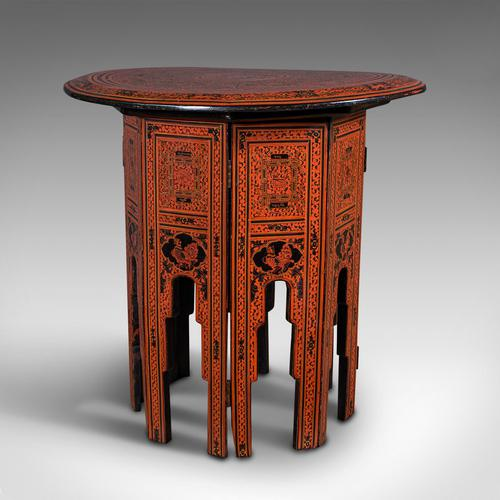 Antique Occasional Table, Oriental, Coffee, Lamp, Stand, Victorian c.1850 (1 of 12)