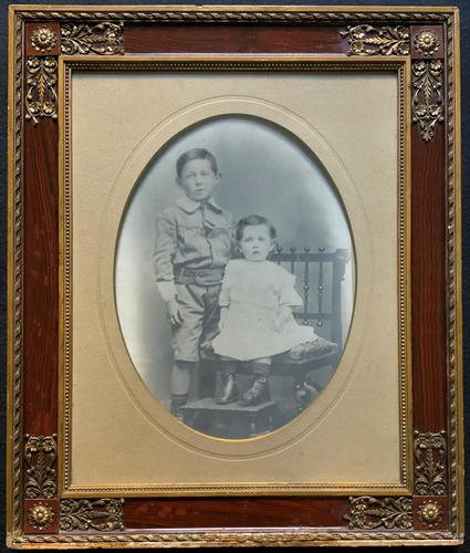 Enchanting Original Show-framed 19th Century Double Portrait Photograph of 2 Siblings (1 of 11)
