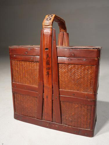Early 20th Century Chinese Rattan, Tiffin Food Holder (1 of 5)