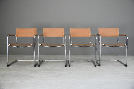 4 x S34 Mart Stam Style Cantilever Dining Chairs (1 of 12)