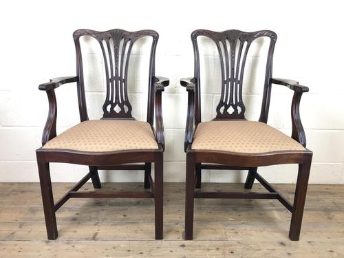 Pair of 19th Century Chippendale Style Armchairs (1 of 11)