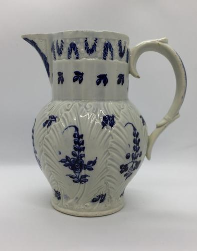 Uncommon 18th Century Swansea Cambrian Pottery Pearlware Cabbage Leaf Jug, Circa 1780 to 1790 (1 of 10)